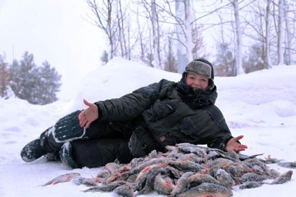 Марина Ковтун на рыбалке